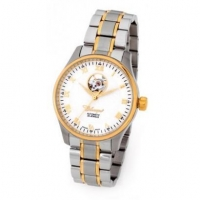Automatic 38mm Swiss Made Two Tone Gold Plated Stainless Steel Open Heart Skeleton Watch