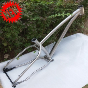 China Titanium Fat Bike Frame 26 Hub 197 on sale