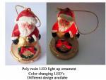 Resin ornament LED light up santa ornament