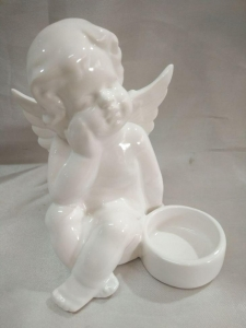 China New small ceramic angel figurines on sale