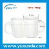 China UV & Sublimation Blanks lovers' mug for heat transfer for sale