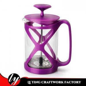 China 2018 Hot Sale 800ml Tea Tool Maker Filter Plastic Borosilicate Glass Travel French Coffee Press on sale