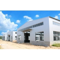 China prefabricated manufactured steel workshop buildings with Low on sale