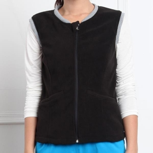 China Black Electric Heated Fleece Vest on sale