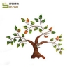 China Iron Wall Hanging Artificial Custom Metal Decoration iron tree wall art for sale