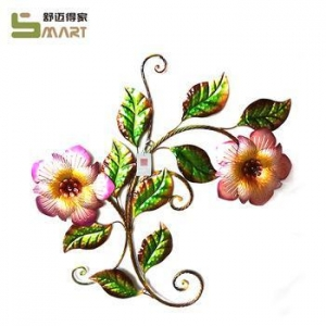 China Iron Wall Hanging wholesale Wall Art Metal Artificial decorative flower on sale