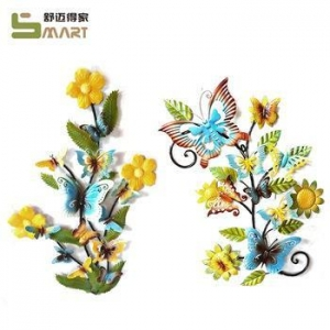 China Iron Wall Hanging Various Indoor Wall Metal Artificial butterfly decoration on sale