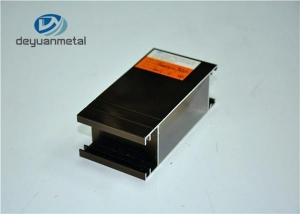 China Wood Grain Aluminium Casement Doors Profiles For Peru on sale