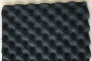 China Sound absorbing pu sponge acoustic wave foam self adhesive sound insulation sound proof wave sponge on sale