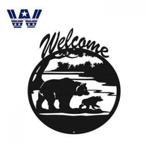 China Metal Crafts Metal Welcome Sign on sale