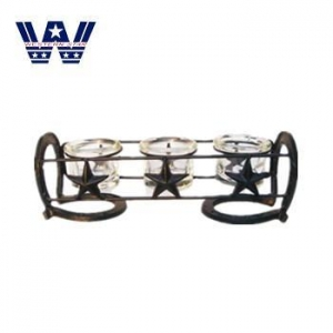 China Decoration Cast Iron Metal Candle Holder Home Decoration on sale