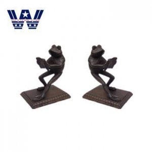 China Decoration Cast Iron Frog Contemporary Metal Bookends on sale