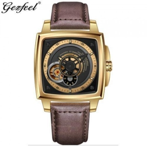 China Cheap square automatic machanical gezfeel watches for men on sale