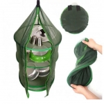 3 Layer Foldable Camping Hanging Dry Net Bag For Food Dishes