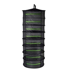 China 8-Tier Herb Drying Rack Herb Dry Net Bag with Zippers on sale