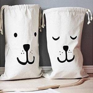 China Drawstring Canvas Laundry Bags Household on sale