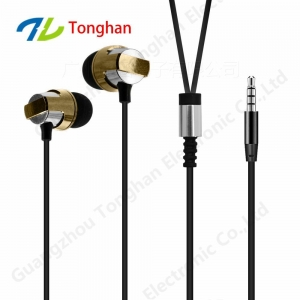 China Noise reduction earphones bass mental earphones best wired earbuds on sale