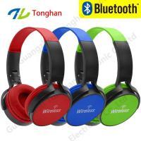 Private label bluetooth headphones custom wireless head set 2017 bluetooth headset SD card on superm