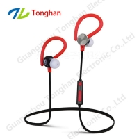 China Mp3 player mini earphone wireless bluetooth earphones ear hook bass 4.1 blue tooth for sports on sale