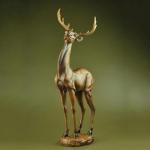 craft and craft Resin Lifelike Detail Hand Paint Deer Figurines