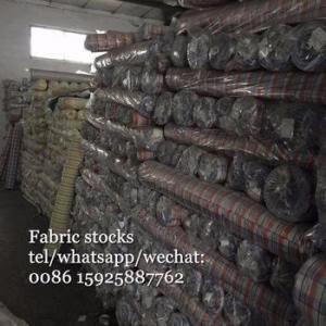 China Yarn dyed shirts Fabric Stocks on sale