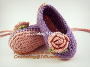 China Crochet Booties, Shoes Slipper on sale