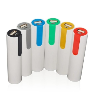 China Novelty Design Cylinder Tube Power Bank, Colorful Round Stick external battery for Iphone on sale