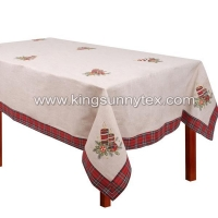 Table Cloths Christmas Tablecloths And Runners With Candle Embroidery