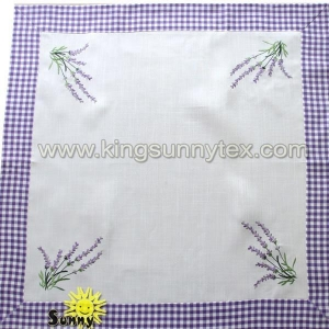 China Table Cloths Embroidery Purple Table Cloth on sale
