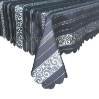 Table Cloths 100% Polyester Jacquard Tablecloth In Black Colour