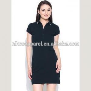 China Wholesale Top quality 100 Cotton Custom made Casual polo Shirt Dress on sale