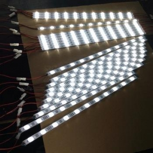 China DC24V LENS led light bar 2835 SMD Rigid LED Light Strip One Led Cuttable on sale