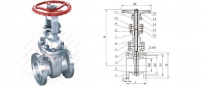 China Gate valve 150LB Flanged Gate Valve on sale