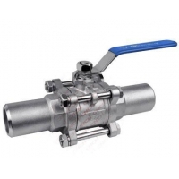 China Ball valve 3PC Ball Valve with Long Butt Weding Pipe on sale