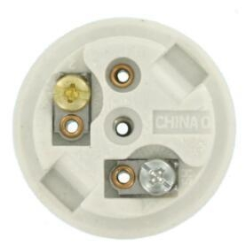 China Single Circuit Front Mount Unglazed Porcelain light bulb socket on sale