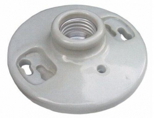 China E27 porcelain keyless lamp holder Keyless Screw Terminals white on sale