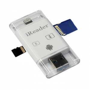 China TECH 3 in 1 SD Card Reader for iPhones and Android Phones on sale