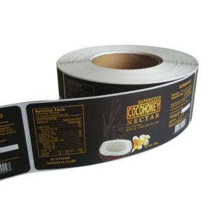 China Custom Pirnted Adhesive Roll Label Sticker on sale