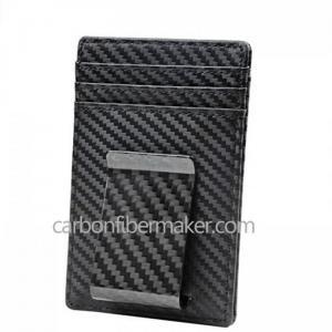 China Carbon Fiber Wallet Clip Wholesale RFID Carbon Card Holder Wallet on sale