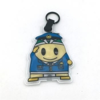 Custom gift led hard hat keychain led animal sound keychain