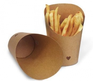 China Craft Paper French Fries Cup 12oz Incline Snack Box Food Grade Craft Paper on sale