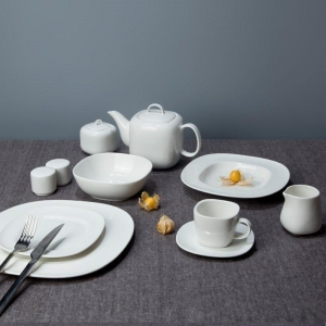 China Royalty Style White Ceramic Dinnerware Sets with Smooth Surface - TW10 on sale