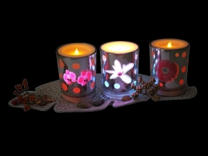 China Electronic candle Product name: EL Lamp candle in glass on sale