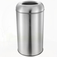 China household cleaning and decorative cream powder coated trash bin on sale