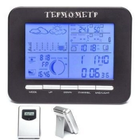China Wireless Weather Station Alarm Clock With Barometer/ Temperature&Humidity Transmitters on sale