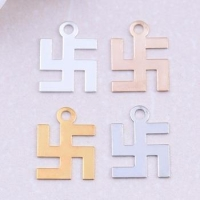 Bulk single loop glossy charm copper geometric solid brass plating jewelry finding