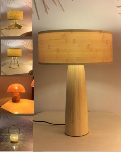China Bamboo light tablelight on sale