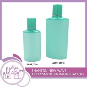 China Plastic Packaging of Cosmetic Sectors Empty Cream Bottle with Screw Cap on sale
