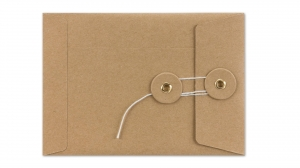 China Packaging Bags Kraft paper envelope with string and button closure on sale