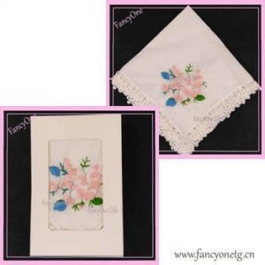 China high quality watersoluble lace cotton handkerchiefs on sale